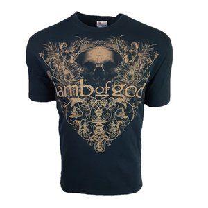 VTG Lamb Of God Heavy Metal Band Tee T-Shirt Sz M